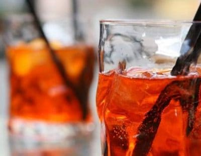 Aperol Spritz glass