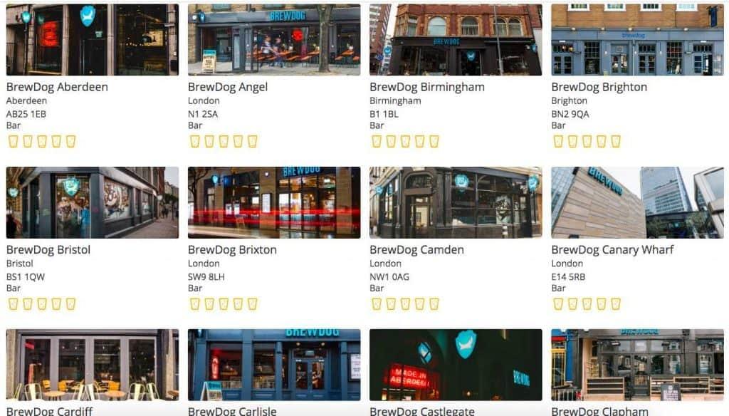 Brewdog venues