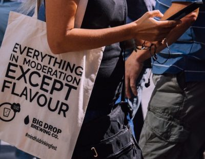 Everything in moderation except flavour bag Club Soda Mindful Drinking Festival