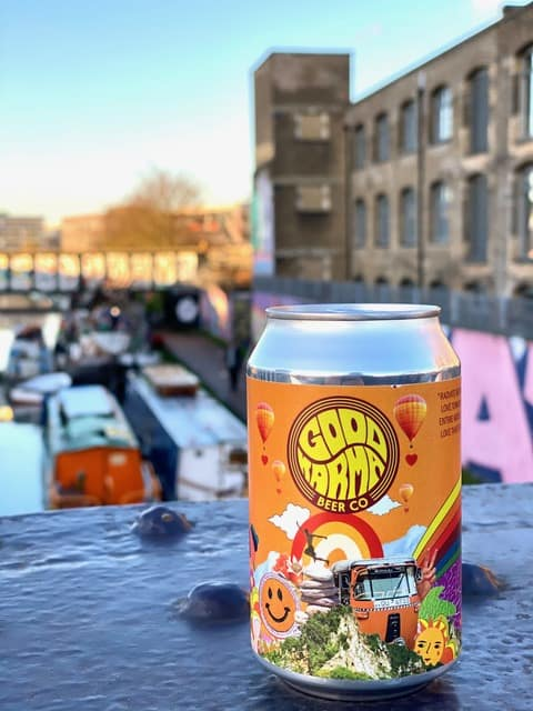 Can of Love That Feeling, a hefeweizen from Good Karma Beer Co