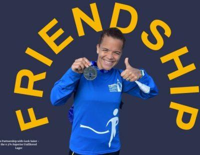 Sabrina making friends through running